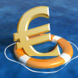 Saving the euro — Stock Photo