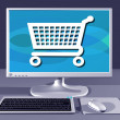Computer showing Internet shopping — Stock Photo #2239557