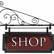 Isolated shop sign — Stok Fotoğraf #2239736