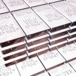 Stacks of silver bars — Stock Photo