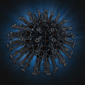 Illustration of a virus — Stock Photo