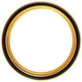 Circular antique picture frame — 图库照片