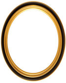 Oval antique picture frame — 图库照片