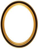 椭圆形古色古香的图片框架 — 图库照片