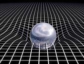 太空时间连续性 — 图库照片