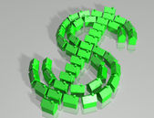 Housing market dollar symbol — Stock Photo