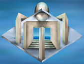Impossible art deco structure — Stock Photo