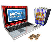 Movie Download — Foto Stock