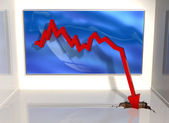 Big downturn — Stock Photo