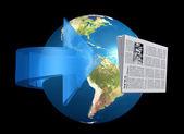 News from around the world — Zdjęcie stockowe