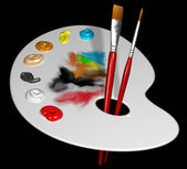 Artist palette — Stock Photo