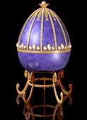 Drahokamy ruský velikonoční vajíčko — Stock fotografie