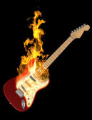 Guitar on Fire — Stock Photo
