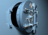 Bank Vault with round door — Stock Photo
