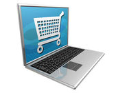 Shopping on the Internet — Stockfoto