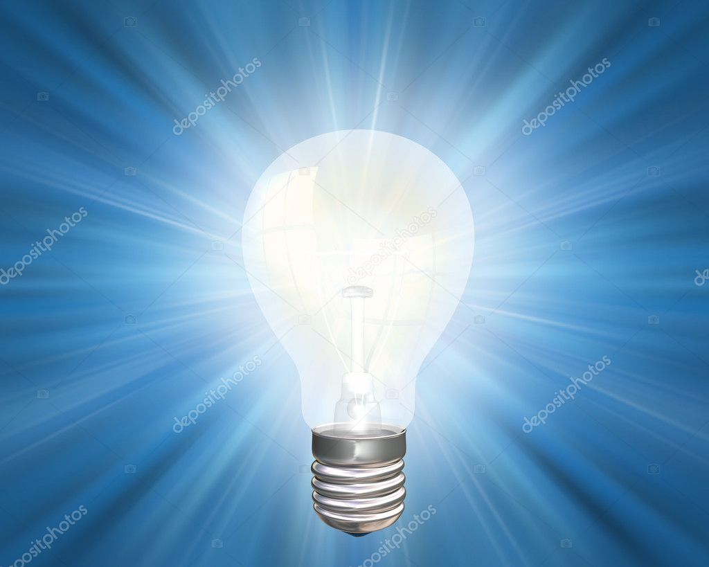 Illustration of an illuminated light bulb — Stock Photo #2234307