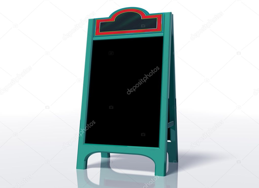 Illustration of a contemporary blank sandwich board — Stock Photo #2239301