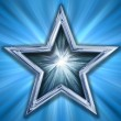 Star on blue background — Stok fotoğraf