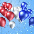 Balloons on a starry background — Stock Photo #2244000