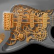 Clockwork guitar — Stock Photo