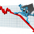 House prices down - Stockfoto