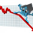 Stock Photo: House prices down