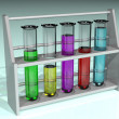 Rack of test tubes - Lizenzfreies Foto
