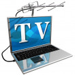 tv on the internet — Stock Photo