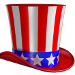 Isolated Top Hat for Uncle Sam - ストック写真