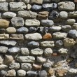 Ancient flint stone wall — Stock Photo
