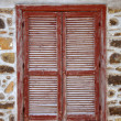 Shuttered window - Stock Photo