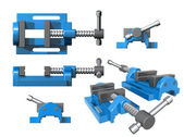 Set of metal clamps — Stock Photo