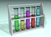Rack of test tubes — Stockfoto