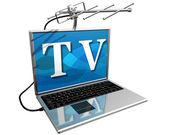 Tv на интернете — Стоковое фото