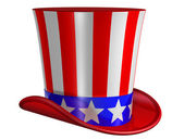Isolated Top Hat for Uncle Sam — Stok fotoğraf