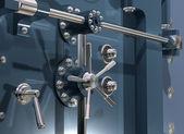Bank kluis close-up — Stockfoto