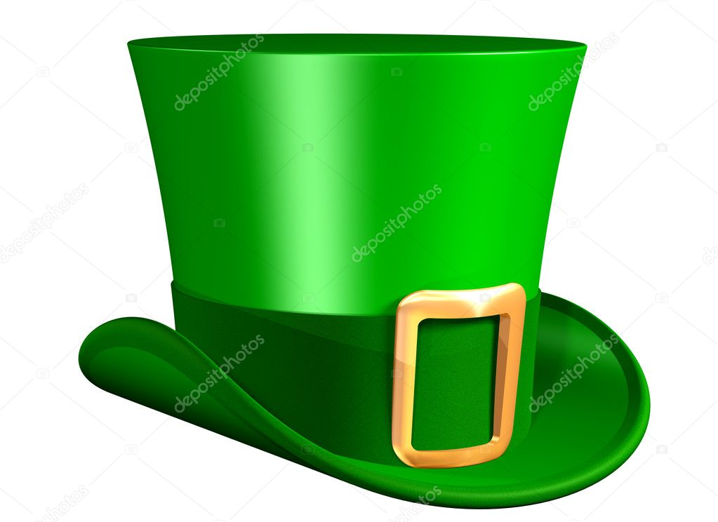Isolated illustration of a rather splendid top hat  Stock Photo #2245149