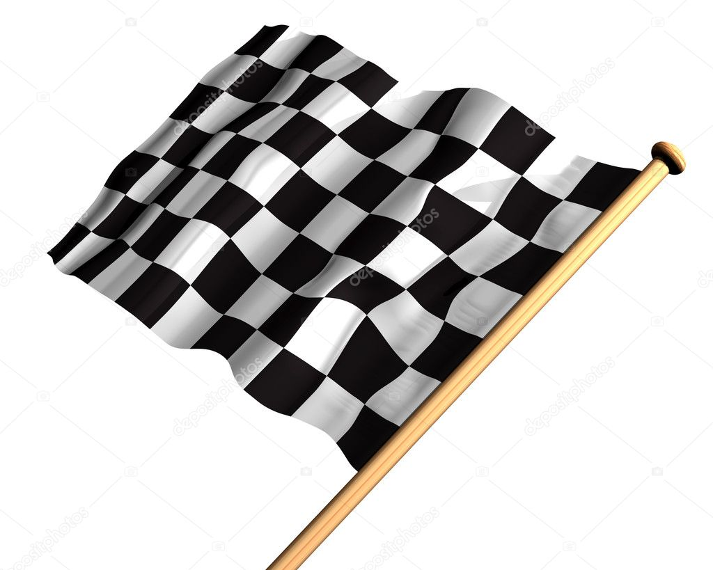 Isolated illustration of a checkered flag — Stock Photo #2245740