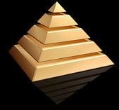 Gouden piramide — Stockfoto