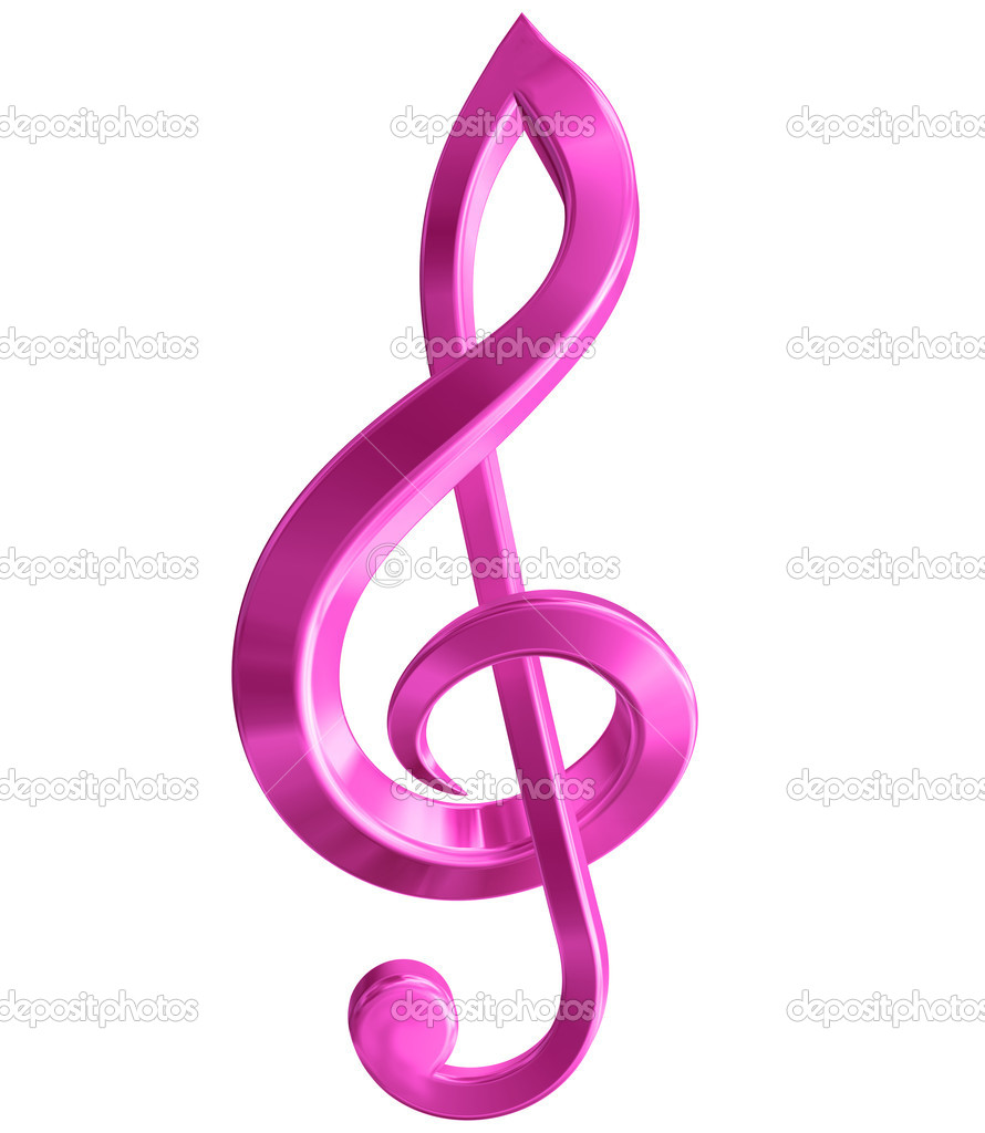Original isolated illustration of a pink music symbol — Stock Photo #2261100