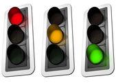 Trafik ışıkları — Stok fotoğraf