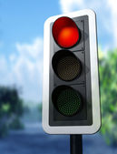Red traffic light — Stock Photo