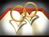 Anelli di nozze ad incastro — Foto Stock