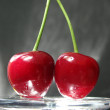 Stock Photo: Two cherries