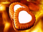 Heart like biscuits — Stock Photo