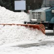 Stock Photo: Snow-removal machine
