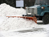 Snow-removal machine — Stock Photo