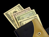 Money in a purse — Stock Photo