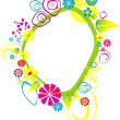 Royalty-Free Stock Vector Image: Frame flower