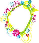 Frame flower — Stock Vector